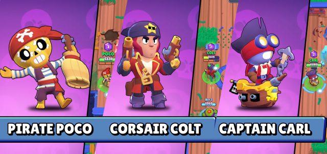 новые пиратские скины